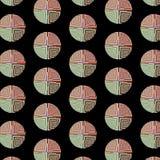 Sömlös modell med flerfärgade fyrkanter in i cirklar Arkivbild