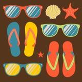 Sömlös modell med flipmisslyckanden och solglasögon stock illustrationer