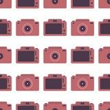 Sömlös modell med fotokameror Arkivbild