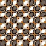 Sömlös modell med fyrkanter av olika format och färger stock illustrationer