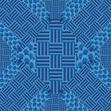 Sömlös modell med geometriska beståndsdelar Royaltyfri Bild