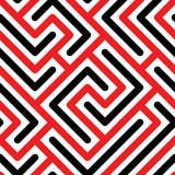 Sömlös modell med geometriska linjer vektor illustrationer