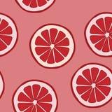 Sömlös modell med grapefrukten Royaltyfri Bild
