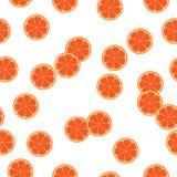Sömlös modell med gula citroner - illustration, cirkel, Lyme Arkivfoto