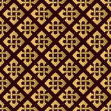 Sömlös modell med guld- celtic kors kantlagrar låter vara vektorn för oakbandmallen Fotografering för Bildbyråer
