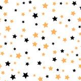Sömlös modell med guld- och svartstjärnor också vektor för coreldrawillustration Arkivbild