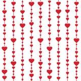 Sömlös modell med hängande hjärtagirlander Royaltyfria Bilder