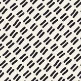 Sömlös modell med hand drog linjer Abstrakt bakgrund med frihandsborsteslaglängder abstrakt svart white för designillustrationtex Arkivbild