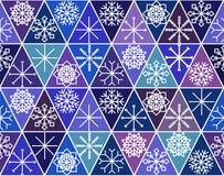 Sömlös modell med hand drog snöflingor abstrakt borsteslaglängder Färgpulverillustration Vintermodell för inpackningspapper vektor illustrationer