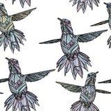 Sömlös modell med kolibrin Royaltyfri Illustrationer