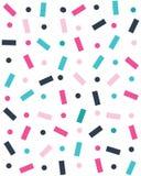 Sömlös modell med konfettier vektor illustrationer