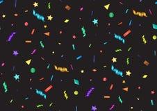 Sömlös modell med konfettier Arkivfoton