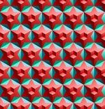 Sömlös modell med kuber och stjärnor royaltyfri illustrationer