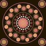 Sömlös modell med kulöra punkter och cirklar Royaltyfri Fotografi