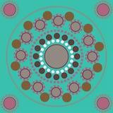 Sömlös modell med kulöra punkter och cirklar Fotografering för Bildbyråer