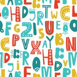 Sömlös modell med latinska bokstäver vektor illustrationer