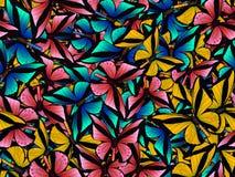 Sömlös modell med lotten av olika butterflys Arkivfoton