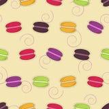 Sömlös modell med macarons stock illustrationer