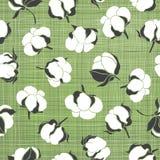 Sömlös modell med mjuka bomullsknoppar den blom- bakgrundsdesignen använder idealt den din vektorn Royaltyfri Foto