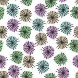 Sömlös modell med modern geometrisk färgrik garnering Garneringbeståndsdel för födelsedag- eller hälsningdesign vektor illustrationer