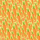 Sömlös modell med morötter vektor illustrationer