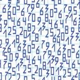 Sömlös modell med nummer på anteckningsboksidan vektorbackgroun Royaltyfri Fotografi