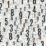 Sömlös modell med numren vektor illustrationer