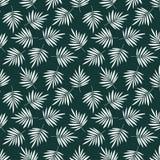 Sömlös modell med palmbladet Tropisk bakgrund royaltyfri illustrationer