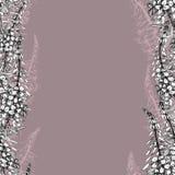 Sömlös modell med pil-örten på mörker-rosa färger royaltyfri illustrationer
