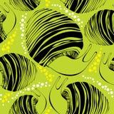 Sömlös modell med randiga sniglar för svart Vektor Illustrationer