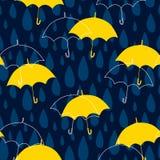Sömlös modell med regndroppar stock illustrationer