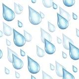Sömlös modell med regndroppar för flygillustration för näbb dekorativ bild dess paper stycksvalavattenfärg Arkivfoton