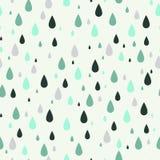Sömlös modell med regndroppar Vara kan den van vid tygdesignen, tapeten, dekorativt papper, rengöringsdukdesignen, Etc Royaltyfri Fotografi