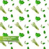 Sömlös modell med skivor av grönsaker Selleri Arkivbilder