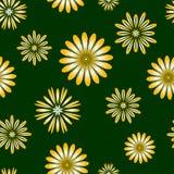 Sömlös modell med stiliserade blommor Arkivfoto
