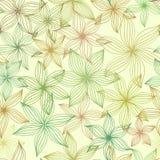 Sömlös modell med stiliserade blommor Vektor Illustrationer