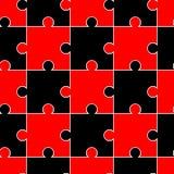 Sömlös modell med svarta och röda pussel Mosaisk bakgrund Modeller för ätliga isläggningark för att täcka kakor vektor illustrationer