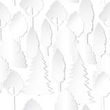 sömlös modell med träd och staketet stock illustrationer