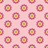 Sömlös modell med utsmyckade rosa blommor. Arkivfoton