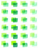 Sömlös modell med vattenfärg målade fyrkanter av olika skuggor av gräsplan Arkivfoton