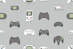 Sömlös modell med videospelstyrspaken stock illustrationer