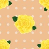 Sömlös modell Provence för gula rosor vektor illustrationer