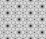 Sömlös modell som baseras på den japanska geometriska prydnaden svart white royaltyfri illustrationer
