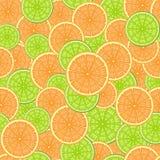 Sömlös modell som består av skivor av limefrukt och apelsinen Arkivfoton