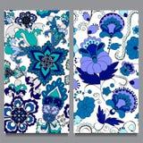 Sömlös modell två orientalisk design Royaltyfria Bilder