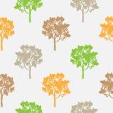 Sömlös modell, vektor som upprepar illustrationen, dekorativa dekorativa stiliserade ändlösa träd Abstrakt bakgrund, seamlesgraph Royaltyfria Bilder