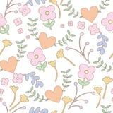 Sömlös modellbakgrund av den färgrika blomman Royaltyfria Bilder