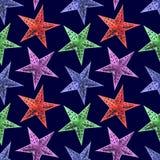 Sömlös modellbakgrund för abstrakta stjärnor Fotografering för Bildbyråer
