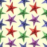 Sömlös modellbakgrund för abstrakta stjärnor Arkivfoton