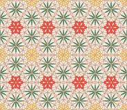 Sömlös modellbakgrund för geometrisk blom- beståndsdel vektor illustrationer